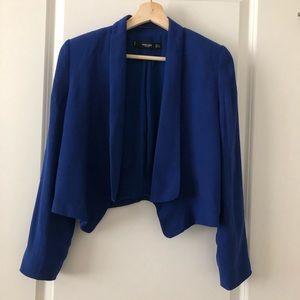 Mango Blue Electric Blazer Size XS